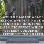 Thank You UI President Killeen for Condemning BDS on Campus by Shani Benezra